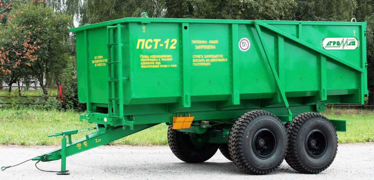 Полуприцеп самосвальный тракторный с боковой разгрузкой ПСТБ-12