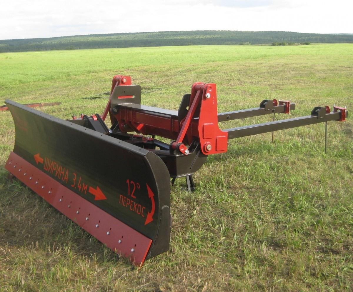 Отвал бульдозерный с перекосом для трактора Кировец-744 (фронтальная установка)